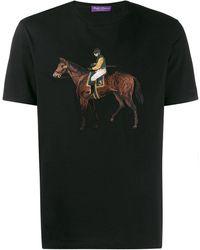 Ralph Lauren Purple Label グラフィック Tシャツ - ブラック