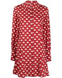 Kate Spade Robe-chemise courte à fleurs - Rouge