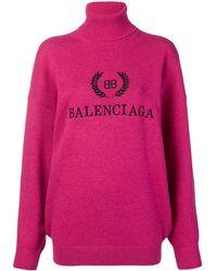 Balenciaga Bb バレンシアガ タートルネック セーター - ピンク