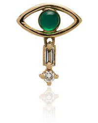 Ileana Makri - Emerald And Yellow-gold Earring - Lyst