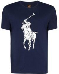 Polo Ralph Lauren Camisa con estampado de poni - Azul