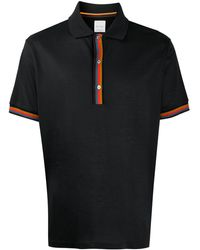 Paul Smith Poloshirt mit Kontrastdetail - Grau