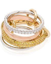 Spinelli Kilcollin Кольцо Vega Из Желтого И Белого Золота С Бриллиантами - Металлик