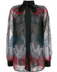 Elie Saab - Embroidered Tulle Shirt - Lyst