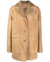 DESA NINETEENSEVENTYTWO Shearling Leather Jacket - Natural