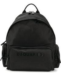 DSquared² Rucksack mit Logo-Print - Schwarz