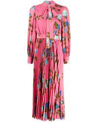 MSGM - ローズプリント ドレス - Lyst