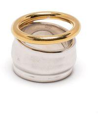 Loewe Double Design Ring - Metallic
