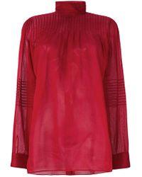 Valentino - Blusa Con Collo Alto - Lyst