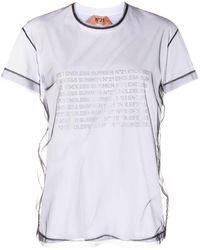 N°21 - レイヤード メッシュ Tシャツ - Lyst