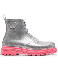 Viktor & Rolf Coturno Couture Boots - Metallic