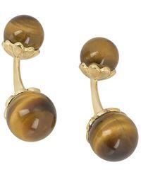 Piaget Pre-owned 18kt Yellow Gold Tiger Eye Cufflinks - Metallic