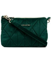 Lancaster Actual Quilted Crossbody Bag - Green