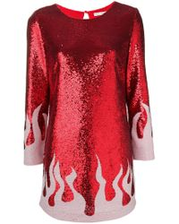 Each x Other - Fire Sequinned Mini Dress - Lyst