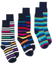 PS by Paul Smith - Striped Socks 3 Pack - Lyst