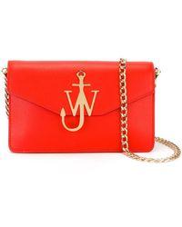 J.W. Anderson   Monogram Leather Shoulder Bag   Lyst