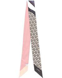 Ferragamo - モノグラムプリント スカーフ - Lyst