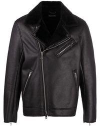 Armani Exchange Куртка Из Искусственной Кожи На Молнии - Черный