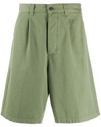 AMI Шорты-бермуды Со Складками - Зеленый
