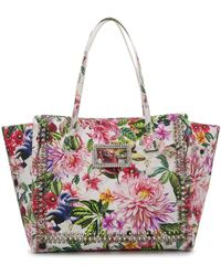 Philipp Plein Floral Print Tote Bag - White
