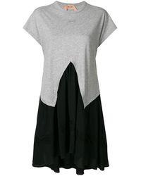 N°21 - バイカラー Tシャツワンピース - Lyst