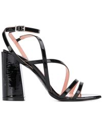 MSGM Strappy Block-heel Sandals - Black
