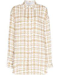 Faith Connexion Check Tweed Overshirt - Multicolour