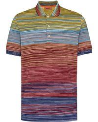 Missoni Poloshirt aus Häkelstrick - Orange