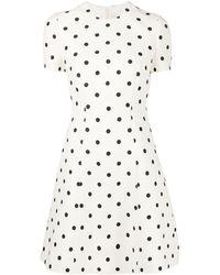 Valentino Платье Мини В Горох - Белый