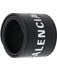 Balenciaga Branded Wristband - Black