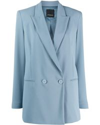 Pinko Double-breasted Blazer - Blue
