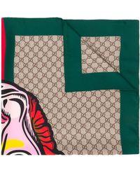 Gucci - インターロッキングg スカーフ - Lyst