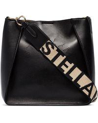 Stella McCartney ステラ ロゴ ショルダーバッグ - ブラック