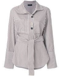 Eudon Choi - Belted Striped Shirt - Lyst