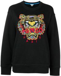 KENZO - Sweatshirt mit Tiger-Stickerei - Lyst