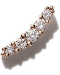 Stone Paris 18kt Rose Gold Line Button Earring - Metallic