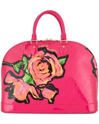 Louis Vuitton Sac à main Vernis Alma MM pre-owned - Rose