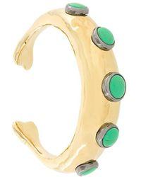 Aurelie Bidermann 18kt Vergoldete Armspange mit Türkisverzierungen - Mettallic