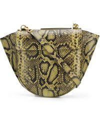 Wandler Hortensia Medium Snakeskin Shoulder Bag - Green