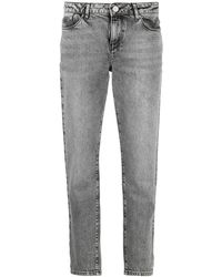 Karl Lagerfeld Прямые Джинсы Essential Средней Посадки - Серый