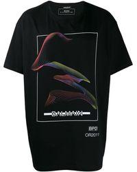 Balmain T-shirt en jersey de coton à logo imprimé - Noir