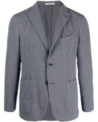 Boglioli スリムフィット シングルジャケット - ブルー