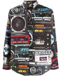 Moschino Рубашка С Принтом - Черный