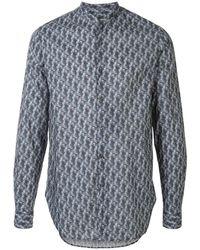 Giorgio Armani - Рубашка С Геометричным Принтом - Lyst