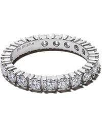 De Beers - Platinum Db Classic Full Eternity Diamond 2.5mm Band - Lyst