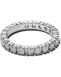 De Beers Platinum Db Classic Full Eternity Diamant 2.5mm Band - Meerkleurig