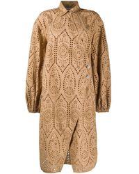 Ganni - Hemdkleid aus Spitze - Lyst
