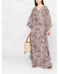 Pinko レオパード ロングドレス - ホワイト