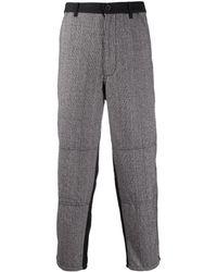 Comme des Garçons Geruite Pantalon - Zwart