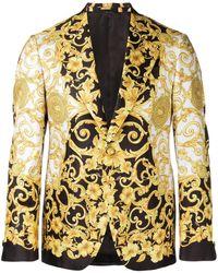 Versace Blazer à imprimé baroque - Blanc